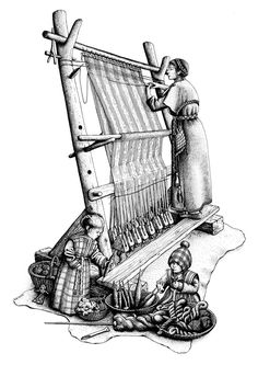 12bb WEAVING in Warp Weighted Loom on Pinterest   Loom, Iron Age ...