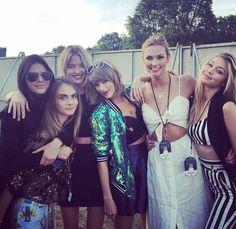 Taylor Swift, Kendall Jenner, Cara Delevingne, Karlie Kloss,Gigi Hadid