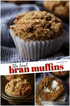If you think Bran Muffins are boring, dry, or just all-around plain and lackluster, you are in for a treat! This Bran Muffin Recipe makes sweet, moist muffins that are packed with flavor and perfect with a spread of butter! Donut Muffins, All Bran Muffins, Blueberry Bran Muffins, Chocolate Chip Muffins, Cranberry Muffins, Blue Berry Muffins, Zucchini Muffins, Healthy Muffins, Morning Glory Muffins