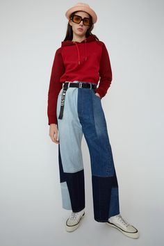 Acne Studios' Denim Collection Is Filled With Nods to Style Denim Fashion, 90s Fashion, Fashion Outfits, Fashion Brands, Womens Fashion Australia, Indigo, Patchwork Jeans, How To Pose, Silhouette