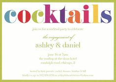 Colorful Cocktails Invitations