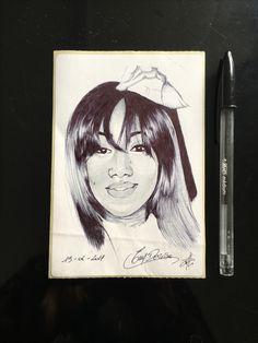 Mini portrait stylo