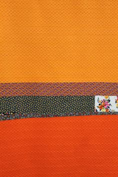 Tangerine/Poppy by Denise Schmidt. New and vintage cottons, 2005.