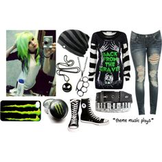 Wet emo clothes | fashion look from October 2013 featuring Wet Seal jeans and Converse ...