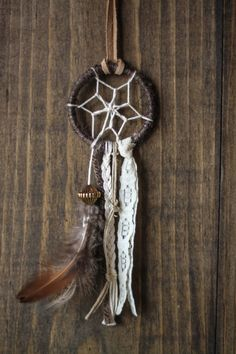 Your place to buy and sell all things handmade Diy Arts And Crafts, Handmade Crafts, Diy Crafts, Small Dream Catcher, Dream Catchers, Bohemian Girls, Boho, Dream Catcher Necklace, Earth Tones