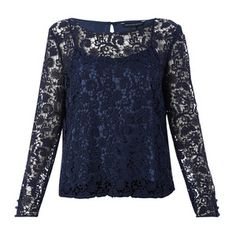 Loving Crochet Top Navy, $135, now featured on Fab.
