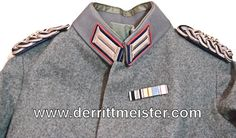 "M-1915 GENERALARZT FELDBLUSE FELDGRAU TUNIC - PRUSSIA. We are always pleased to bring you feldgrau tunics. It is an especially good day for us when we offer an example that once belonged to a General. This example is a very different sort of tunic. It was once the property of a ""Generalarzt,"" that is, a doctor who was also a General Officer. I can assure you, the German Army, did NOT have many Generals who were doctors. A man in this rank would have been assigned at a very high level…"