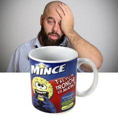 "Mug ""Mince... t'as vu ta tronche ce matin ?"" #tasse #mug #cadeaux #réveil #difficile"