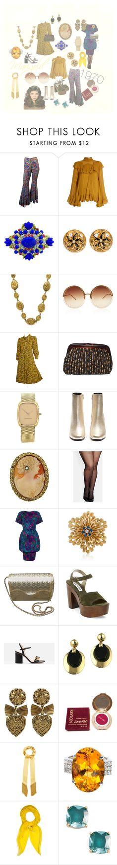"""1970s fashion"" by bren-fashun on Polyvore featuring Chloé, Lazuli, Chanel, Linda Farrow, Audemars Piguet, Yves Saint Laurent, City Chic, Ross-Simons, Saks Fifth Avenue and Steve Madden"