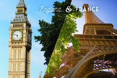 Icons of the world are waiting for your arrival! Learn how you and your family can experience Big Ben and the Eiffel Tower on our England & France vacation!