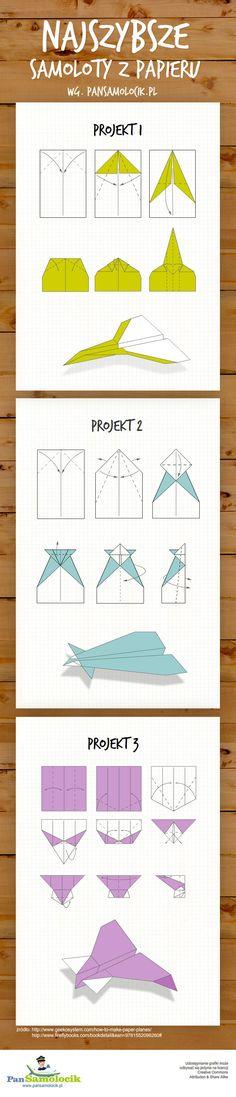 Samoloty z papieru – infografika  http://www.nlogo.pl/portfolio/samoloty-z-papieru-infografika