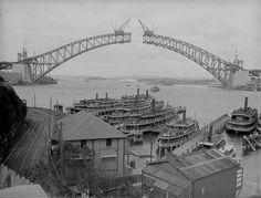 Sydney Harbour Bridge Contruction, 1930