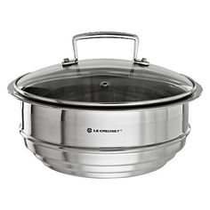 John Lewis £50 Steamer  Buy Le Creuset Stainless Steel Multi-Steamer with Glass Lid Online at johnlewis.com