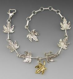 Falling Maple Leaf Bracelet by JudieGummDesigns on Etsy, $89.00