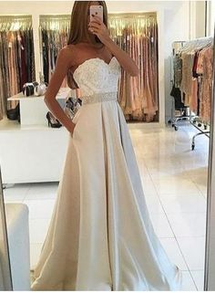 New Arrival Appliques Prom Dress,Sleeveless A Line Prom