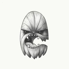 May the fourth be with you today!  . #timvandenbroeck #vector #icon #icondesign #vectorillustrator #starwarsday #maythe4th #chewbacca #cforchewbacca #36daysoftype #36days_c