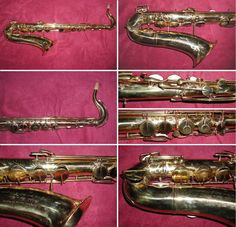 """This early original Adolphe Sax tenor sax dates back to 1862, ONLY about 14 years after the invention of the saxophone by Antoine-Joseph """"Adolphe"""" Sax!!! It is stamped with serial number 24193!!!!!!!!!!!!"""