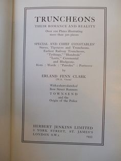 Truncheons: Their Romance and Reality, by Erland Fenn Clark (1935) - Google Search