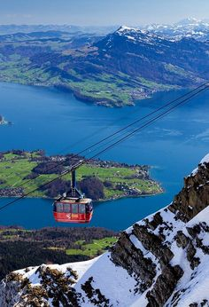 Cable Car on Mount Pilatus overlooking Lucerne in Central Switzerland Places Around The World, Travel Around The World, Around The Worlds, Places To Travel, Places To See, Lucerne Switzerland, Vacation Destinations, Trains, Travel Inspiration