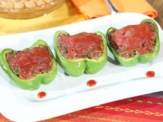 "Sweetie Pies' Soul Food ""MEATLOAF STUFFED BELL PEPPERS""  