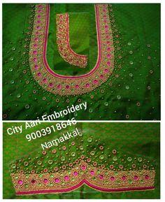 Embroidery Blouses, Aari Embroidery, Embroidery Patterns, Simple Blouse Designs, Blouse Designs Silk, Wedding Saree Blouse Designs, Saree Wedding, Comfort Design, Work Blouse