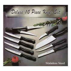 I found this amazing 10 Piece: Deluxe Stainless Steel Knife Set at nomorerack.com for 80% off. Sign up now and receive 10 dollars off your first purchase