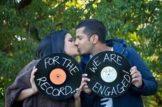 wedding themes 72 Fun And Creative Music Lovers We - Creative Engagement Announcement, Baby Announcement Pictures, Wedding Announcements, Vintage Wedding Theme, Wedding Themes, Wedding Events, Wedding Ideas, 50s Wedding, Wedding Stuff