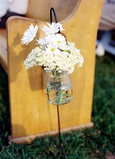 Tennessee Picnic Wedding by Jamie Clayton, Part 1 - Southern Weddings Cute Wedding Ideas, Trendy Wedding, Diy Wedding, Wedding Styles, Dream Wedding, Wedding Inspiration, Wedding Things, Wedding Stuff, Church Wedding Decorations Aisle