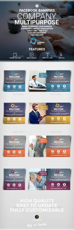 Facebook Banners - Corporate Multipurpose - Banners & Ads Web Elements | Download: https://graphicriver.net/item/facebook-banners-corporate-multipurpose/12315814?ref=sinzo
