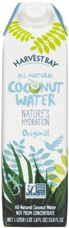 Harvest Bay Coconut Water - Pure - 33.8 oz - 12 ct by Harvest Bay -- Awesome products selected by Anna Churchill
