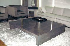 basement: concrete coffee table