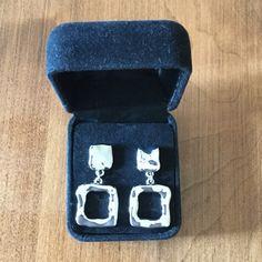Silver Pierced Earrings LIKE NEW Beautiful silver earrings. Worn a couple times. Buy 2 jewelry pieces get 1 free. Look new. Jewelry Earrings