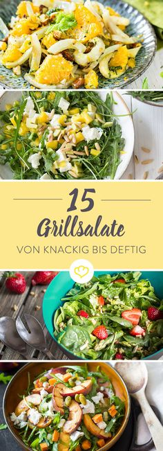 20 salads for grilling that taste like summer- 20 Salate zum Grillen, die nach Sommer schmecken Barbecue salads – from hearty to crunchy and fruity *** BBQ Salads – 15 Recipe Ideas – Taste of Summer - Bbq Salads, Summer Salads, Summer Food, Summer Ideas, Barbecue Recipes, Grilling Recipes, Salad Recipes, Snack Recipes, Healthy Recipes
