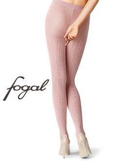 Fogal Dalma Cotton Tights | Get them in soft pink or lava