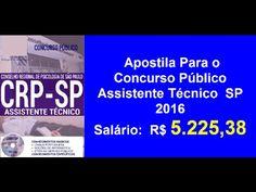 Apostila Concurso Público Assistente Técnico [ SP 2016 ]