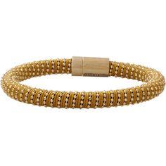 Carolina Bucci Caramel Twister Band Bracelet ($250) ❤ liked on Polyvore featuring jewelry, bracelets, gold bracelet bangle, yellow gold bracelet, bracelet bangle, carolina bucci jewelry and snap button bracelet