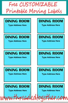 Free Printable Moving Box Labels Color Coded By Room  Look