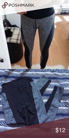 NWT block color exercise pants The picture modeled is an idea of what they look like , just reverse the colors. Super comfy and stretchy! Makes the booty pop and look amaaaaazinggg😍 Pants Leggings