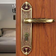 Modeled after an antique LOCK Rose Gold Door lock handle door levers out door furniture door handle Free Shipping pb47 | $476.36 USD.