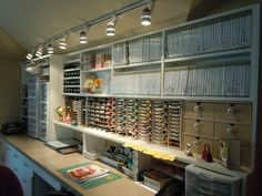 Oh My! I've died and gone to heaven! LOVE the organization and orderliness...yet everything is visible and accessible!!