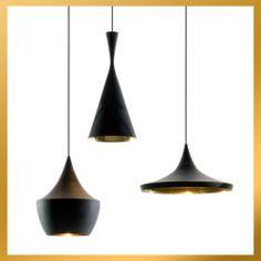 3 lamps (Tall, Fat, Wide) - Black Tom Dixon Beat Light Pendant Lamp Chandelier   eBay