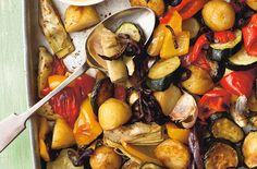 Our roasted Mediterranean vegetables recipe is a great dish for the whole family. This roasted variety of Mediterranean vegetables is healthy and delicious. Serve with couscous and hummus dip. This recipe serves 4 people and will take around 1hr and 15 mins to prepare and cook. It's great for the summer months and all of these delicious, seasonal vegetables are perfect served alongside tender cooked steak, chicken breast or freshly prepare fish like cod or salmon.