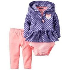 378a4cdbe Carter s® Baby Girls  3-Piece Fox Hoodie Set Ropa De Chicas