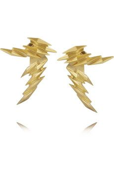 Maria Black Ziggy and Ziggy Reverse gold-plated earrings | NET-A-PORTER