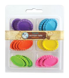 Embellish your scrapbook pages, cards, mixed media projects, DIY jewelry and more using the Bottle Cap Vintage Collection Flattened Bottle Caps. This pack contains 30 flattened bottle caps that are pa Diy Bottle Cap Crafts, Bottle Cap Projects, Bottle Cap Images, Bottle Caps, Tapas, Easy Crafts, Crafts For Kids, Flatten Bottles, Crafts Beautiful