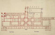Palace of Westminster plan Crace - Charles Barry -
