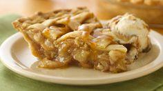 Caramel Apple Pie #applepie