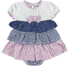 striped ditsy dress  multi  size: 0-12 months  *Selected stores only.