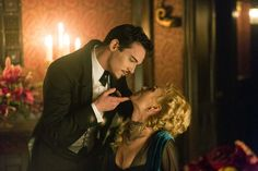 The 10 Most-Anticipated New Dramas |   3. Dracula (NBC)  Inspired by the classic Bram Stoker novel, this drama stars Jonathan Rhys Meyers. This version finds Dracula in London posing as an American entrepreneur who wants to bring modern science to Victorian society. But his true plan — to seek revenge on the people who ruined his life centuries earlier — is thwarted when her falls hopelessly in love with a woman named Mina (Jessica DeGouw ), who seems to be a reincarnation of his dead wife.