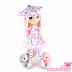 "Tenue pour poupée Pullip / Pullip doll dress outfit kawaii ""Bunnies & Dots"" <3 www.bunnykawaii.com"